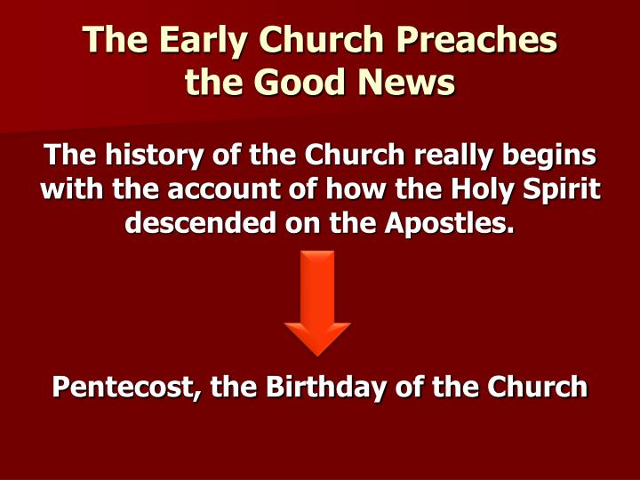 The Early Church Preaches