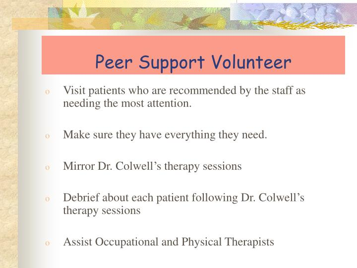 Peer Support Volunteer