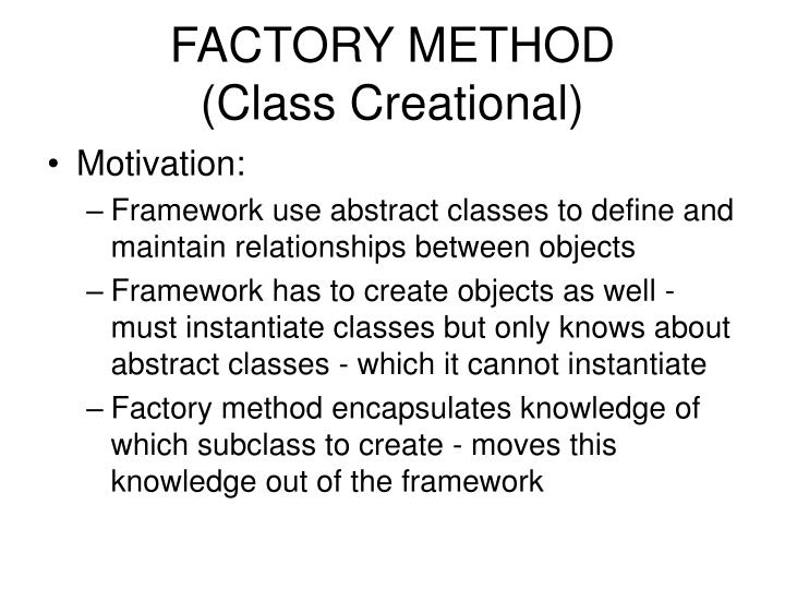 Factory method class creational1