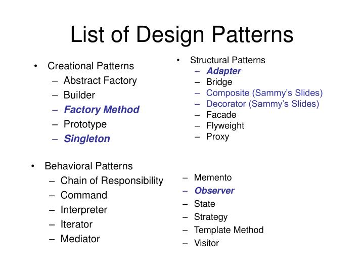 List of design patterns