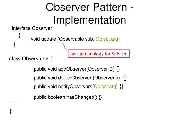 public void addObserver(Observer