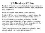 4 3 newton s 2 nd law