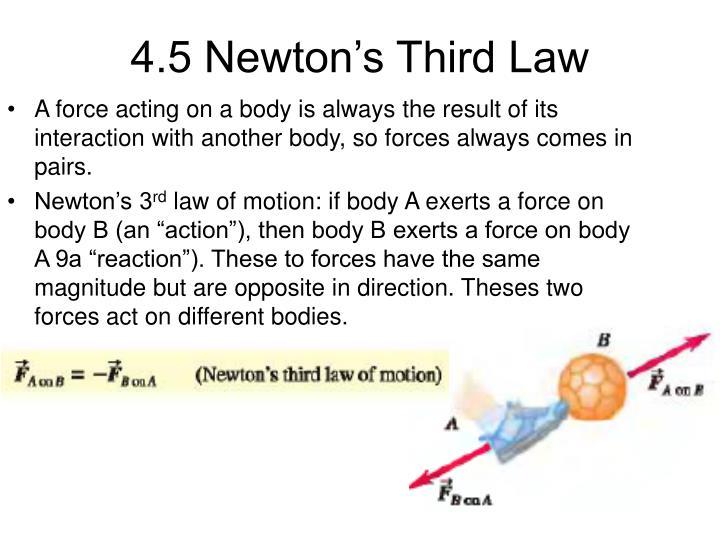 4.5 Newton's Third Law