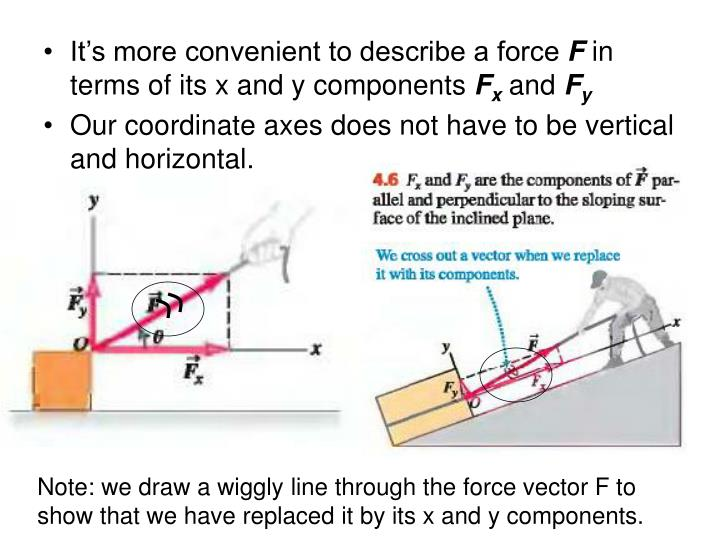 It's more convenient to describe a force