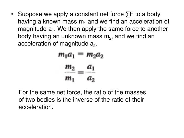 Suppose we apply a constant net force