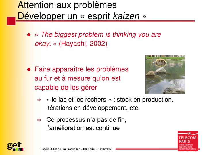 Attention aux problèmes