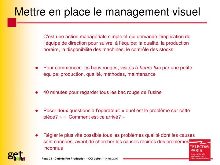 Mettre en place le management visuel
