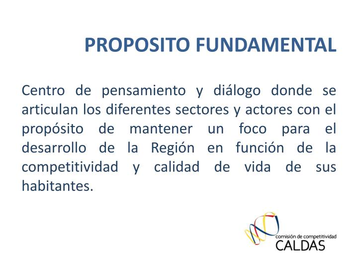 PROPOSITO FUNDAMENTAL