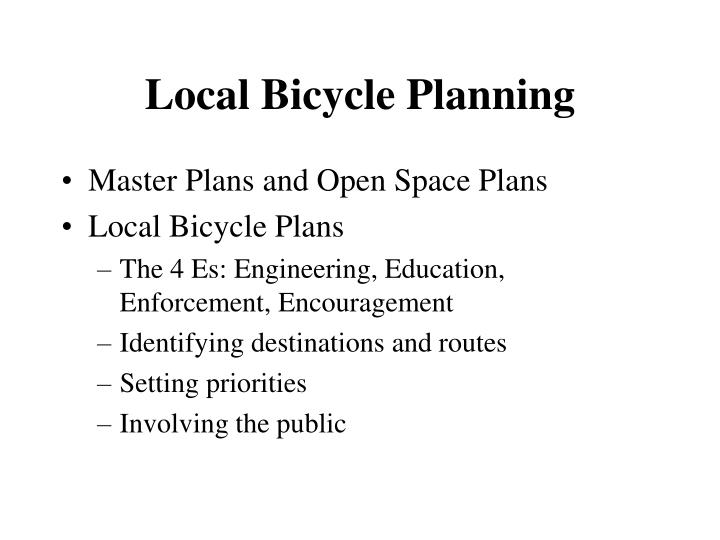 Local bicycle planning