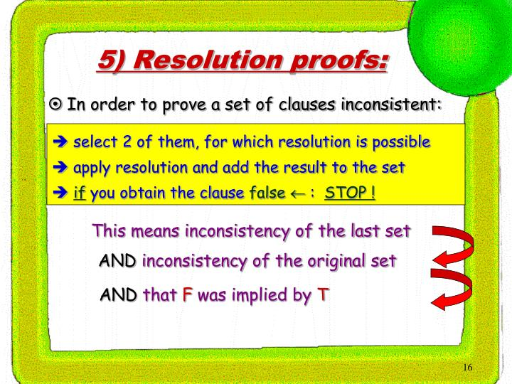 select 2 of them, for which resolution is possible
