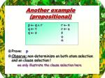 another example propositional