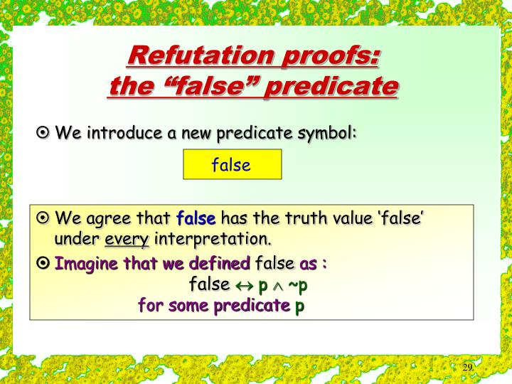 We introduce a new predicate symbol: