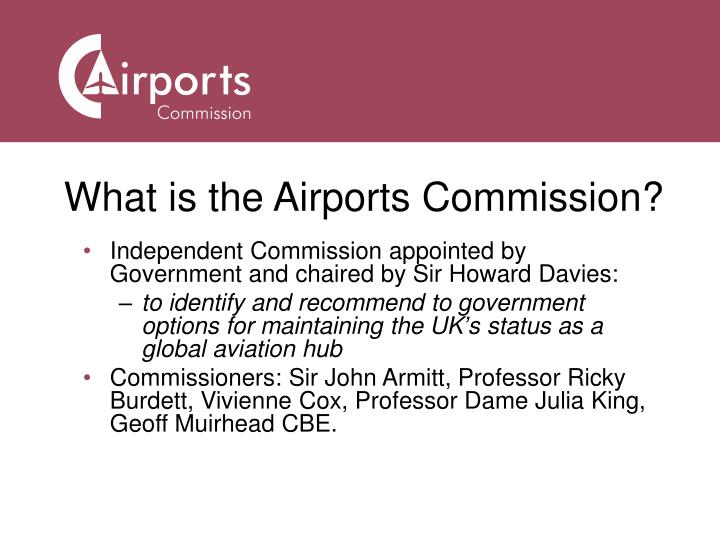 What is the Airports Commission?