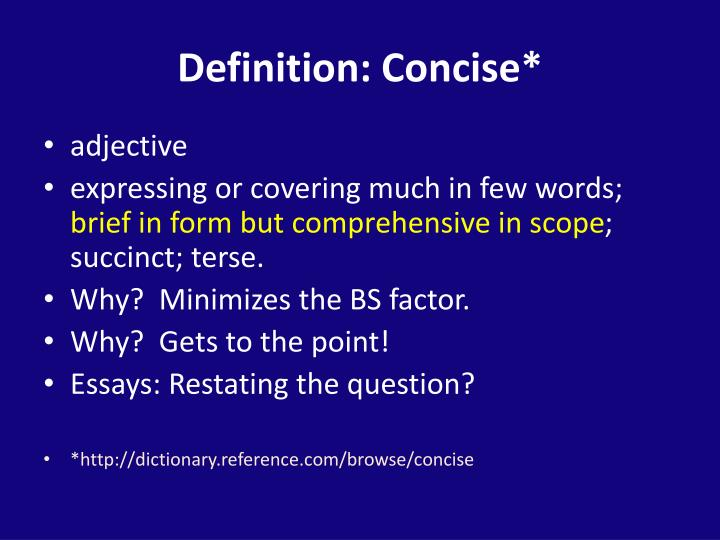 Definition: Concise*