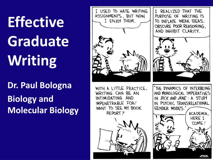 Effective graduate writing