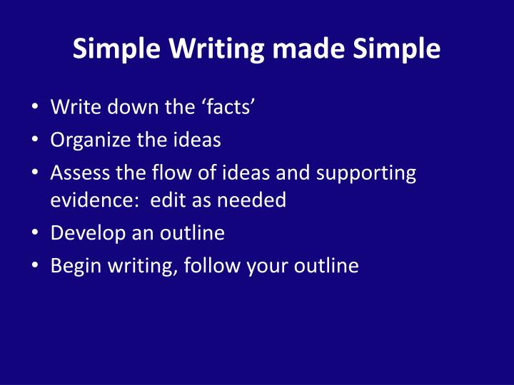 Simple Writing made Simple