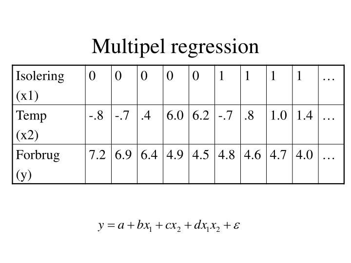 Multipel regression