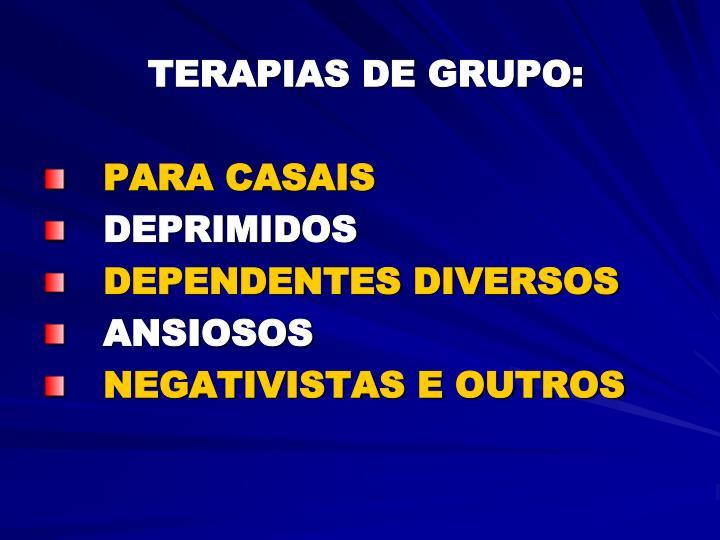 TERAPIAS DE GRUPO: