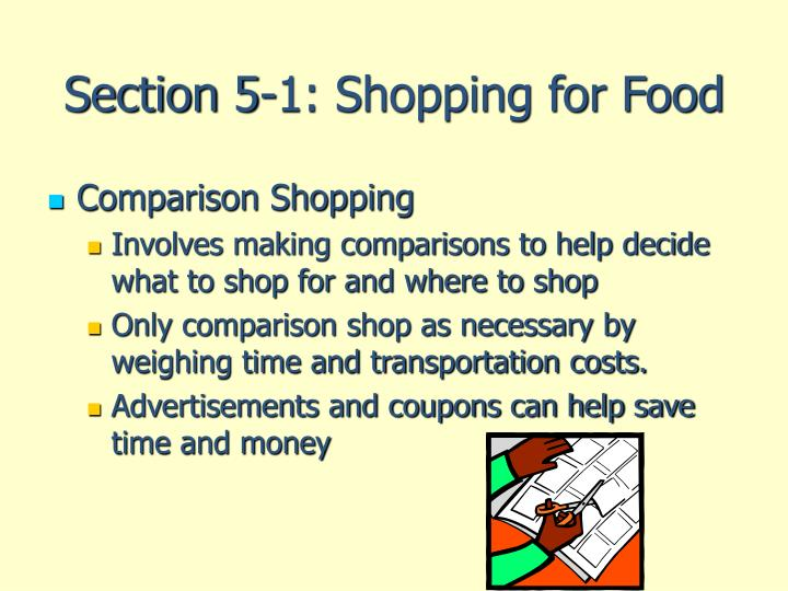 Section 5 1 shopping for food