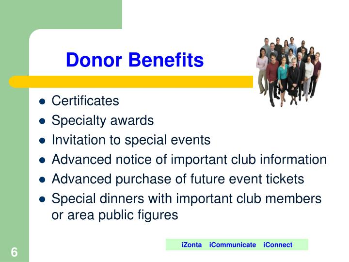 Donor Benefits