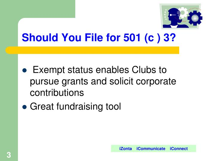 Should You File for 501 (c ) 3?