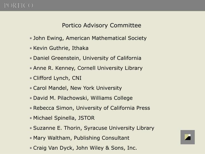 Portico Advisory Committee