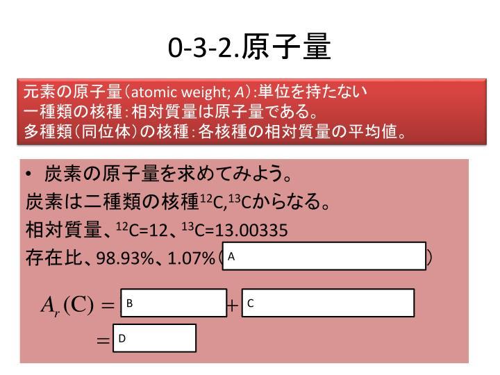 炭素の原子量を求めてみよう。