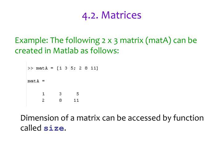4.2. Matrices