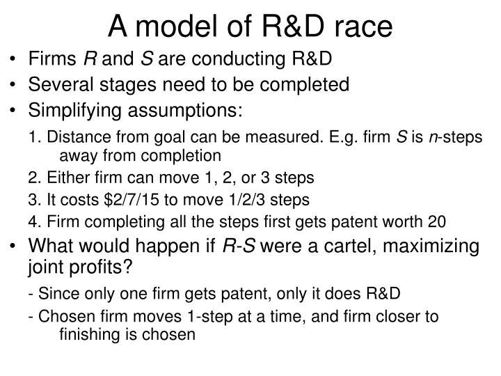 A model of R&D race