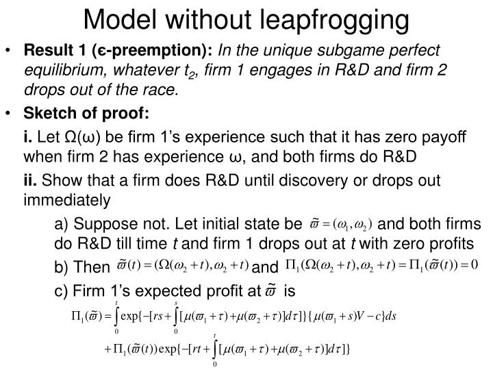 Model without leapfrogging