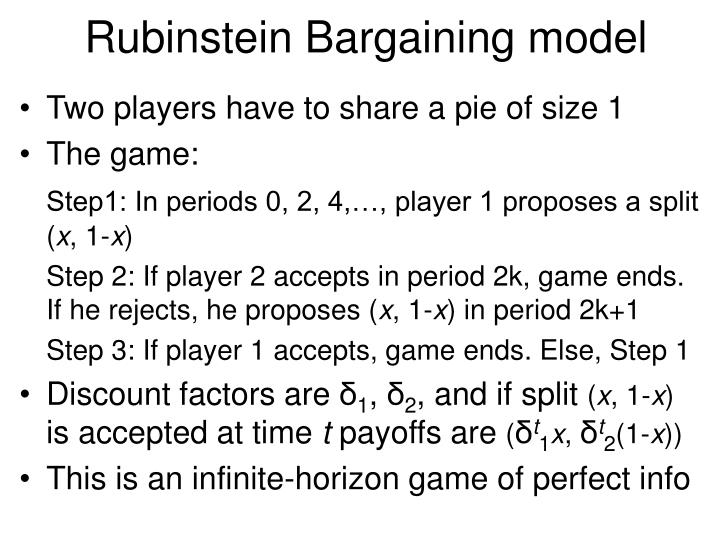 Rubinstein Bargaining model