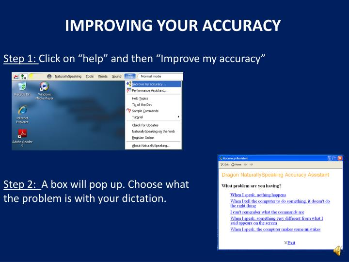 IMPROVING YOUR ACCURACY