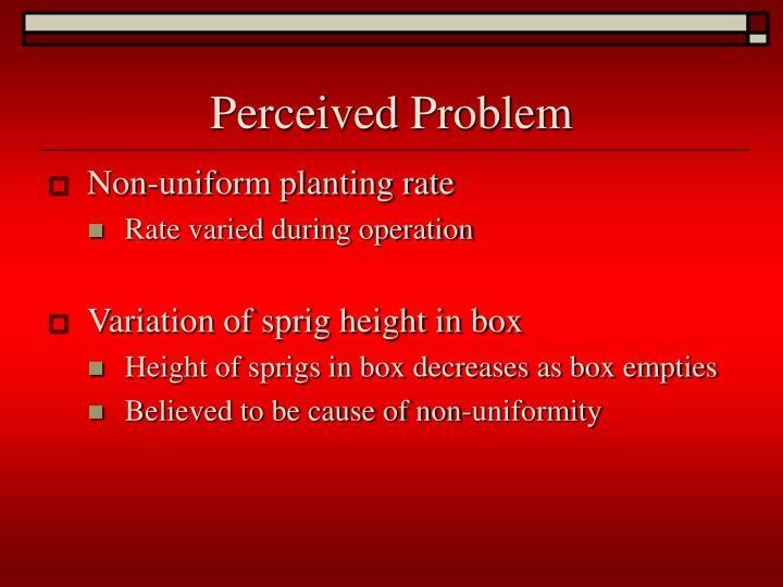 Perceived Problem