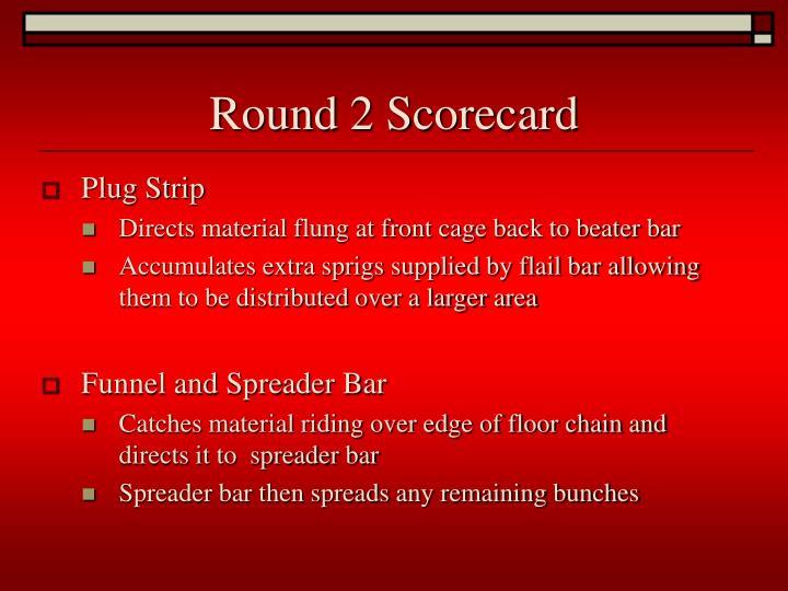Round 2 Scorecard