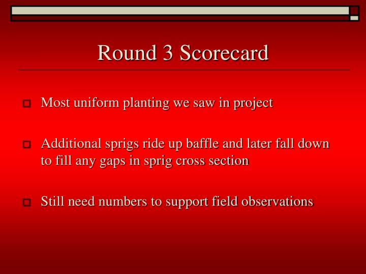 Round 3 Scorecard