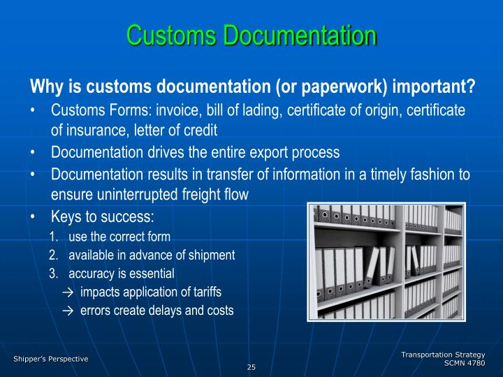 Customs Documentation