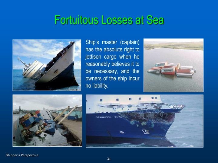 Fortuitous Losses at Sea