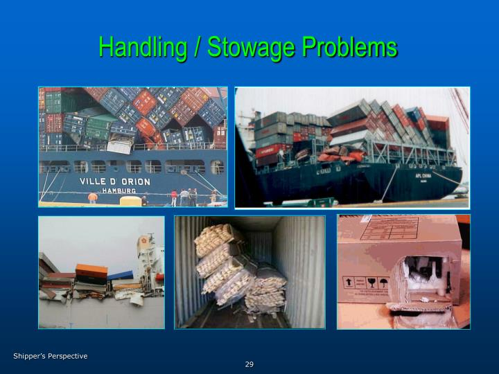 Handling / Stowage Problems
