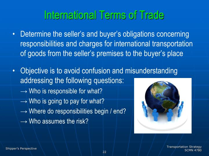 International Terms of Trade