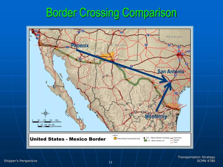 Border Crossing Comparison