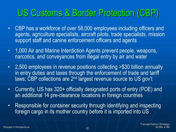 US Customs & Border Protection (CBP)