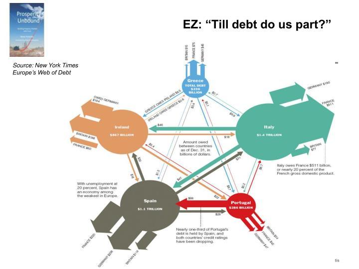 """EZ: """"Till debt do us part?"""""""
