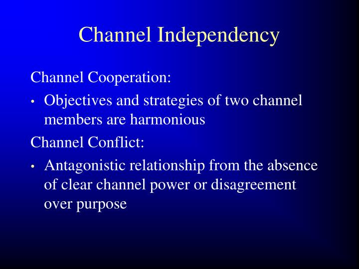Channel Independency
