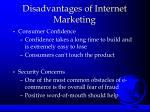 disadvantages of internet marketing1
