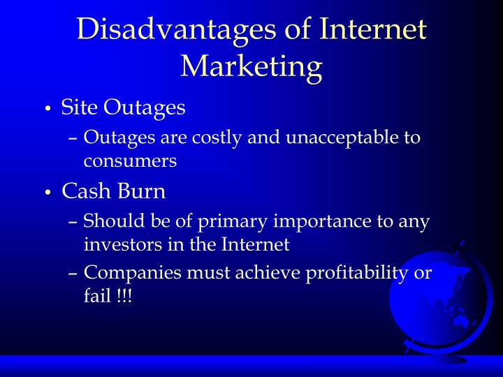 Disadvantages of Internet Marketing
