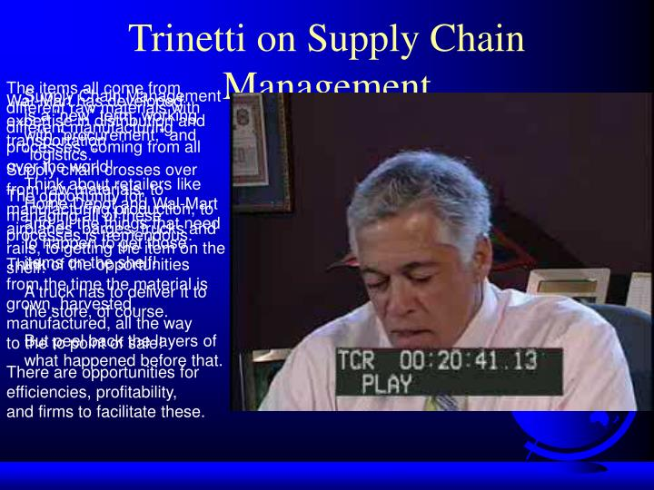 Trinetti on Supply Chain Management