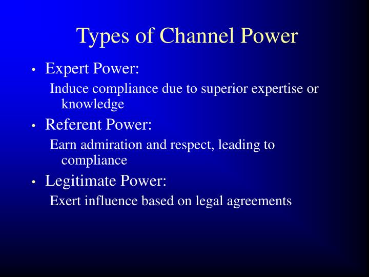Types of Channel Power