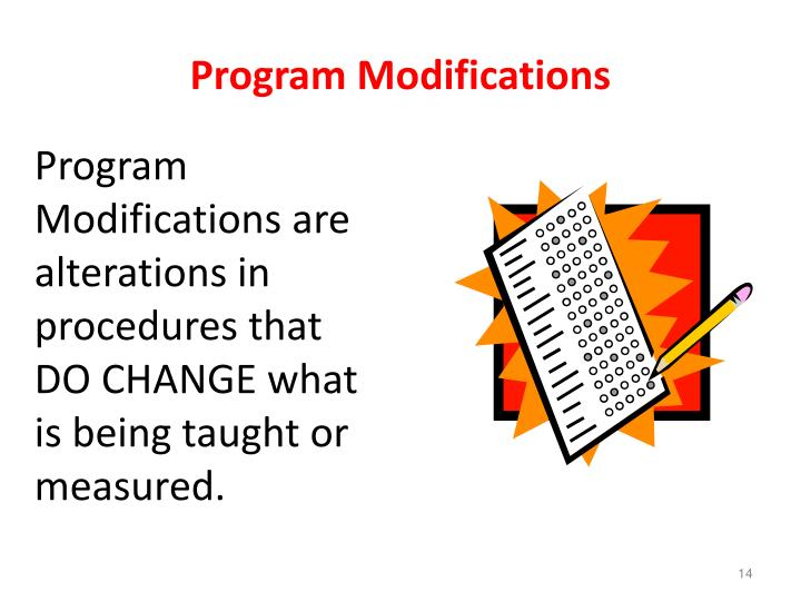 Program Modifications
