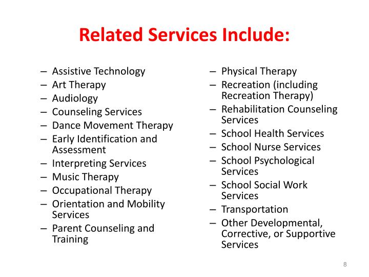Related Services Include: