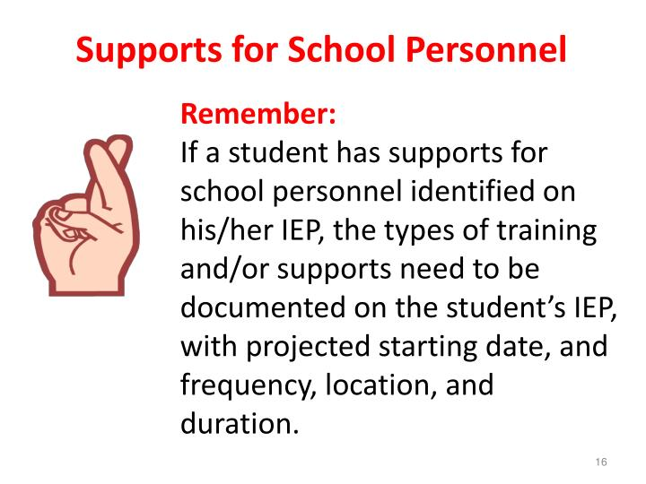Supports for School Personnel